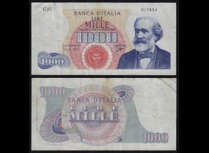 Italien - Italy 1000 Lire Banknote 1964 Pick 96c - F (20181