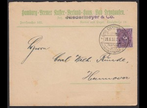 Bad Oeynhausen 1922 Brief v. Kaffee Versand n.Hannover SST Infla