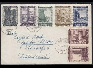 Österreich Wiederaufbau Marken auf Umschlag Badgastein 1960 (20258