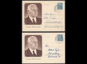 DDR 2 Stück Ganzsache Wilhelm Pieck 1956 von Niederschönhausen (20268