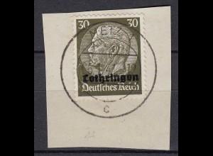 Deutsche Besatzung 2.WK Lothringen 1940 Mi. 11 I Vollstempel Mi 140 €