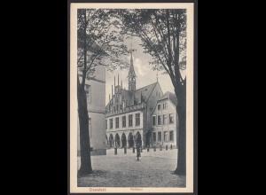 AK Coesfeld Bezirk Münster Rathaus durch die Bäume (20362