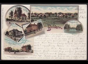 AK Litho 1899 Buldern = Dülmen bei Coesfeld Nottuln Münster selten (20347