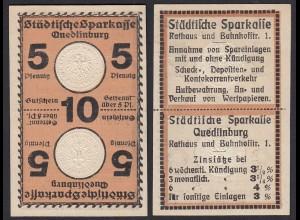 Sachsen-Anhalt - Quedlinburg - 2 x 5 = 10 Pfennig Sparkasse. (20407