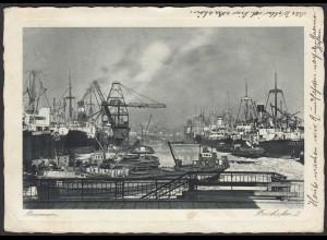 AK Bremen Freihafen II Schiffe Tanker (20426