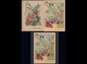 AK 2 Stück Märchenkarten Der kleine Ausreißer + Der große Gelehrte (20437