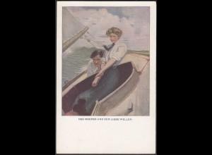 AK M.M. Nr. 837 Kunst Des Meeres und der Liebe Wellen (20460