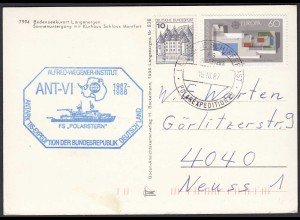 AK Schiffspost POLAREXPEDITION 1987 FS POLARSTERN (20468