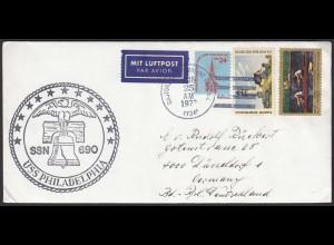 Schiffspost USS PHILADELPHIA SSN 690 1977 (20471