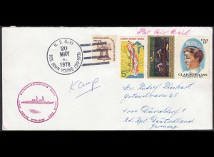 Schiffspost USS JOHN YOUNG DD973 US NAVY 1978 (20473