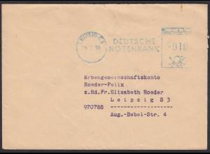 Dienstbrief Deutsche Notenbank Leipzig 1955 Ortsbriefumschlag (20477