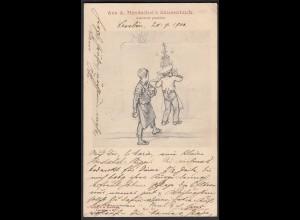 AK Aus A.Hendschel´s Skizzenbuch No.21 Konditorjunge 1900 (20480