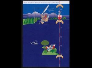 Portugal 1996 Seefahrer Entdecker Block 115 ** postfrisch MNH (d353