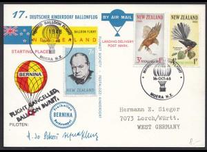 17. Deutscher Kinderdorf Ballonflug Bernina Neuseeland - Deutschland 1965 (20511