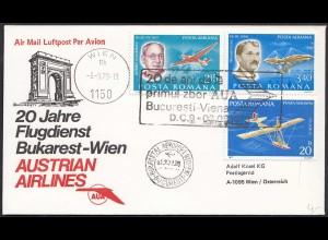 20 Jahre Flugdienst Bukarest-Wien Austrian Airlines 1979 (20512
