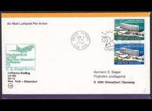 Lufthansa Erstflug LH 409 DC 10 New York - Düsseldorf 1980 (20525