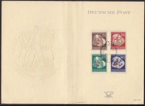DDR 1951 Mi. 289-292 Weltjugendfestspiele Karte m. SST (20626