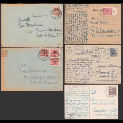 SBZ - 5 Stück Briefe/Karten Bedarf Bitte ansehen (20779