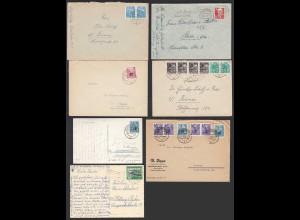 DDR - 7 Stück Briefe/Karten 50er Jahre (20780