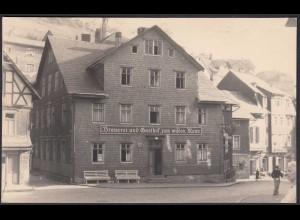 AK Lauscha Thüringen Gaststätte Brauerei Zum Wilden Mann (20781