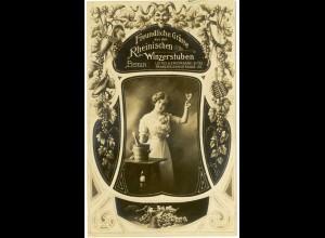 AK Berlin Reklame Jugendstil Rheinische Winzerstuben Wein 1906 (3043