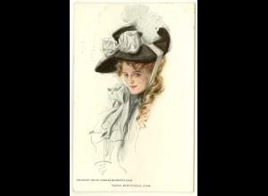 AK - Jugendstil 1906 Dame mit Hut Charles Scribner´s Sons (3014