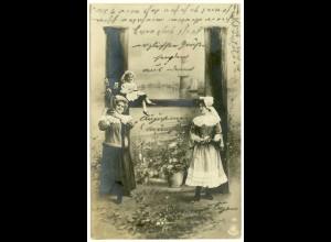 AK altes Foto Mädchen Buchstaben-Karte H 1903 (3008