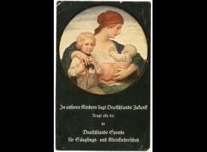 AK Deutschlands Spende Säuglings- + Kinderschutz Bayern 1910 (2904