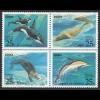 Russia - 1990 Mi.6130-3 Marine Mammals Sea Lions Dolphins Otter Killer Whales