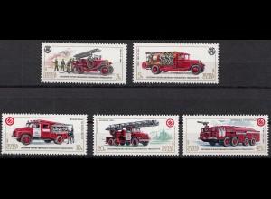 Russia - Soviet Union 198 Mi.5559-63 Cars Fire Fighters, set (83024