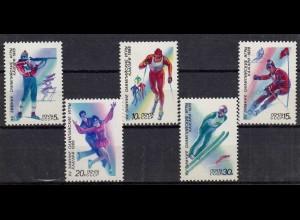 Russia - Soviet Union 1988 Mi.5788-92 Calgary Winter Olympics, set (83028