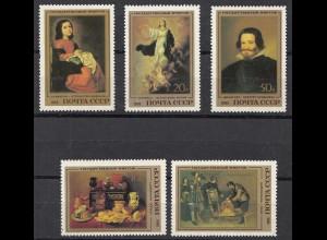 Russia - Soviet Union 1985 Mi.5476-80 Painting Spanish artist, set (83030