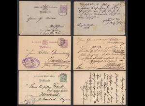 Württemberg vor 1900 3 Stück Ganzsachen gelaufen (20791