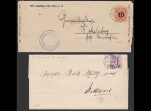 Württemberg - 2 Stück Briefe 1878 + 1925 (20800