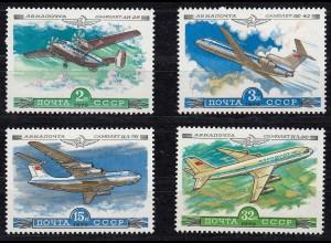 Russia - Soviet Union 1979 Mi.4843-4846 Aeroflot aircraft MNH set (83011