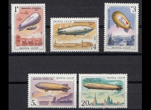 Russia - Soviet Union 1991 Mi. 6216-20 Airships Zeppeline MNH set (83016