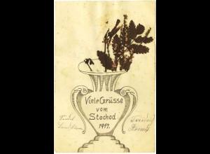 AK WW1 1917 Stochod selbst gemachte Grusskarte (2896