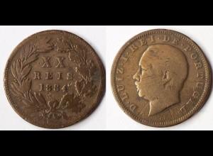 Portugal 20 Reis 1884 Luis I (1861-1889) (r384