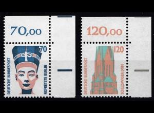 Bund BRD 1988 Mi. 1374-75 ** Sehenswürdigkeiten Eckrand OR LUXUS (20813
