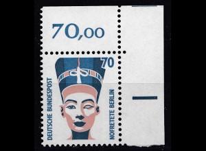 Bund BRD 1988 Mi. 1374 ** Sehenswürdigkeiten Eckrand OR LUXUS 70 Pfg. (20816