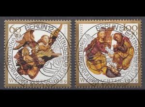 Bund BRD 1442-43 Engel + Geburt Christi Vollstempel Luxus Weihnachten 1989