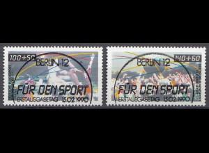 Bund BRD 1449-50 Sport 1990 Handball+Trimm Dich ESST Vollstempel Luxus