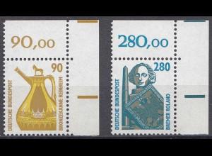 Bund BRD 1988 Mi. 1380-81 ** Sehenswürdigkeiten Eckrand OR LUXUS (20837