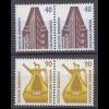 Bund BRD 1988 Mi. 1379 + 1380 Paar ** Sehenswürdigkeiten Eckrand LUXUS (20839