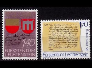 Liechtenstein 275 J. Vaduz 1987 Mi. 928-29 ** (c013
