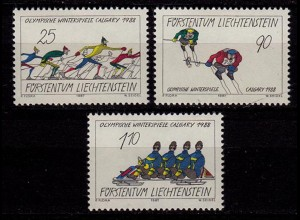 Liechtenstein Olympiade Calgary 1987 Mi 934-936 ** (c014