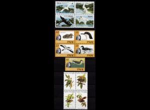 Palau Islands Vögel Birds 1983 + 1984 + 1985 ** Mi. 5-8 + 47-50 + 65-69 (9636