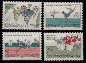 Liechtenstein Sommer Olympiade 1988 Mi. 947-50 ** (c017