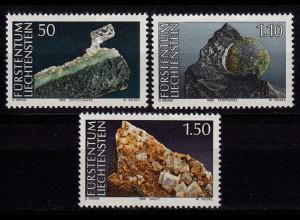 Liechtenstein Mineralien 1989 Mi. 981-83 ** (c025