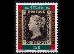 Liechtenstein 150 J.Briefmarken 1990 Mi. 986 ** (c027